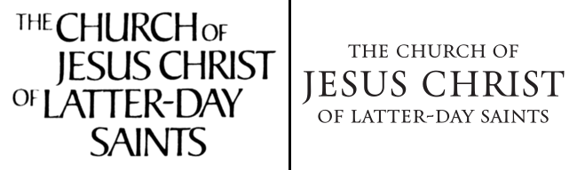 The previous and current logos of The Church of Jesus Christ of Latter-day Saints.