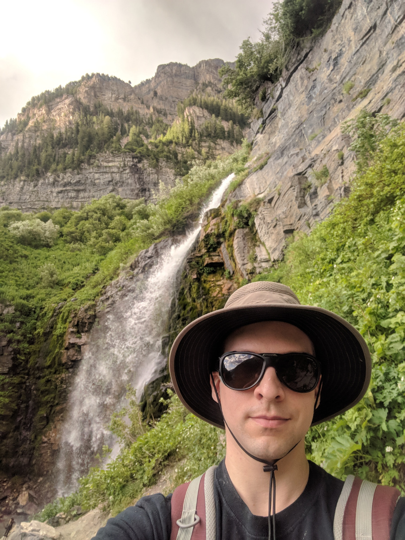 Selfie with one of my favority waterfalls on the hike.